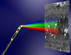 Изображение OFDI-эндоскопа в процессе исследования